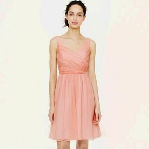 JCrew Rose Heidi Dress Chiffon Bridesmaid Petite 2